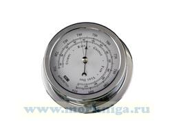 Барометр (полированная и хромированная латунь 150х120х45 мм)
