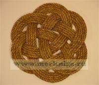 Мат круглый малый, плетение №1 (коврик ручной работы)