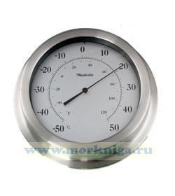 Термометр в стальном корпусе, диаметр 220 мм