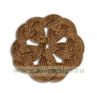 Мат круглый малый, плетение №2  (коврик ручной работы)
