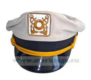 Капитанка кожаная белая для яхтсменов