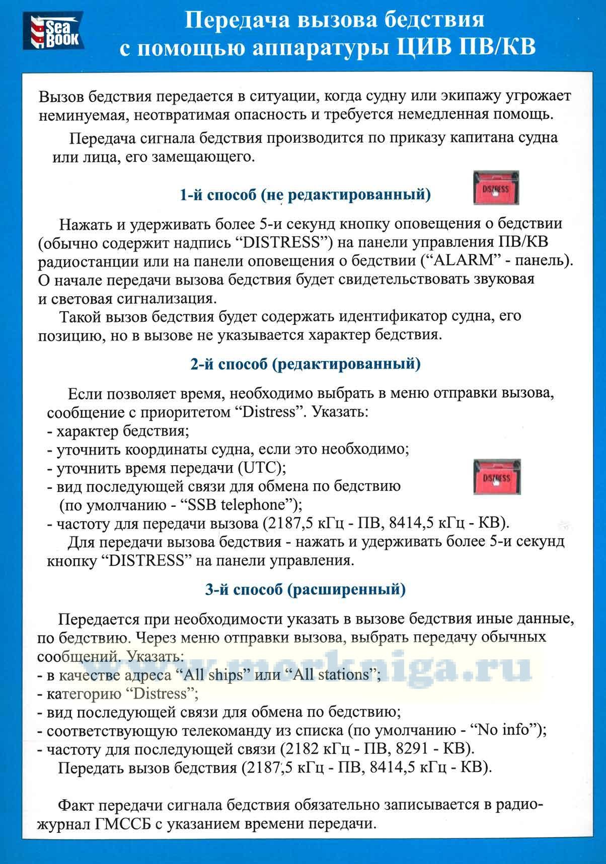 Карточки по процедурам ГМССБ