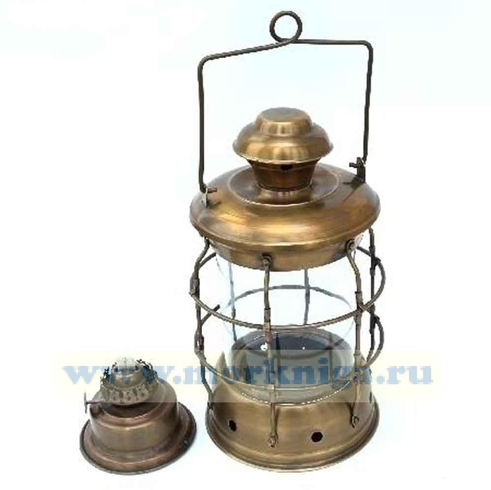 Лампа судовая 10 дюймов цилиндрическая с решеткой