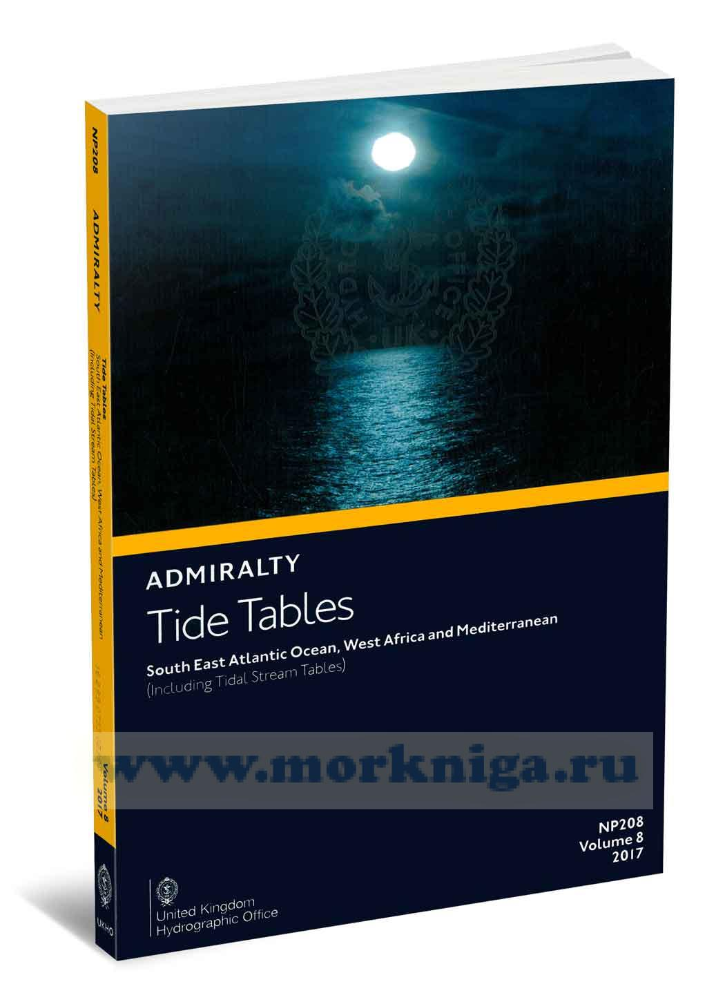 Admiralty Tide Tables. NP208. Volume 8. 2017. South East Atlantic Oсean, West African and Mediterranean