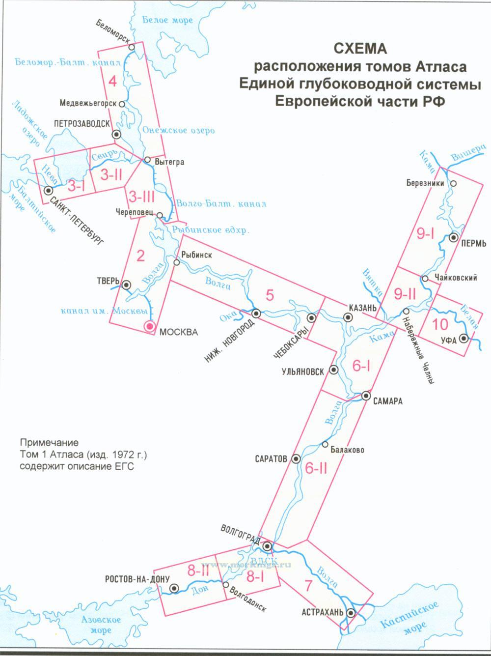 Атлас единой глубоководной системы Европейской части РФ. Том 3. Часть 1. Волго-Балтийский водный путь. Река Нева включая корректуру на начало навигации 2020 г.