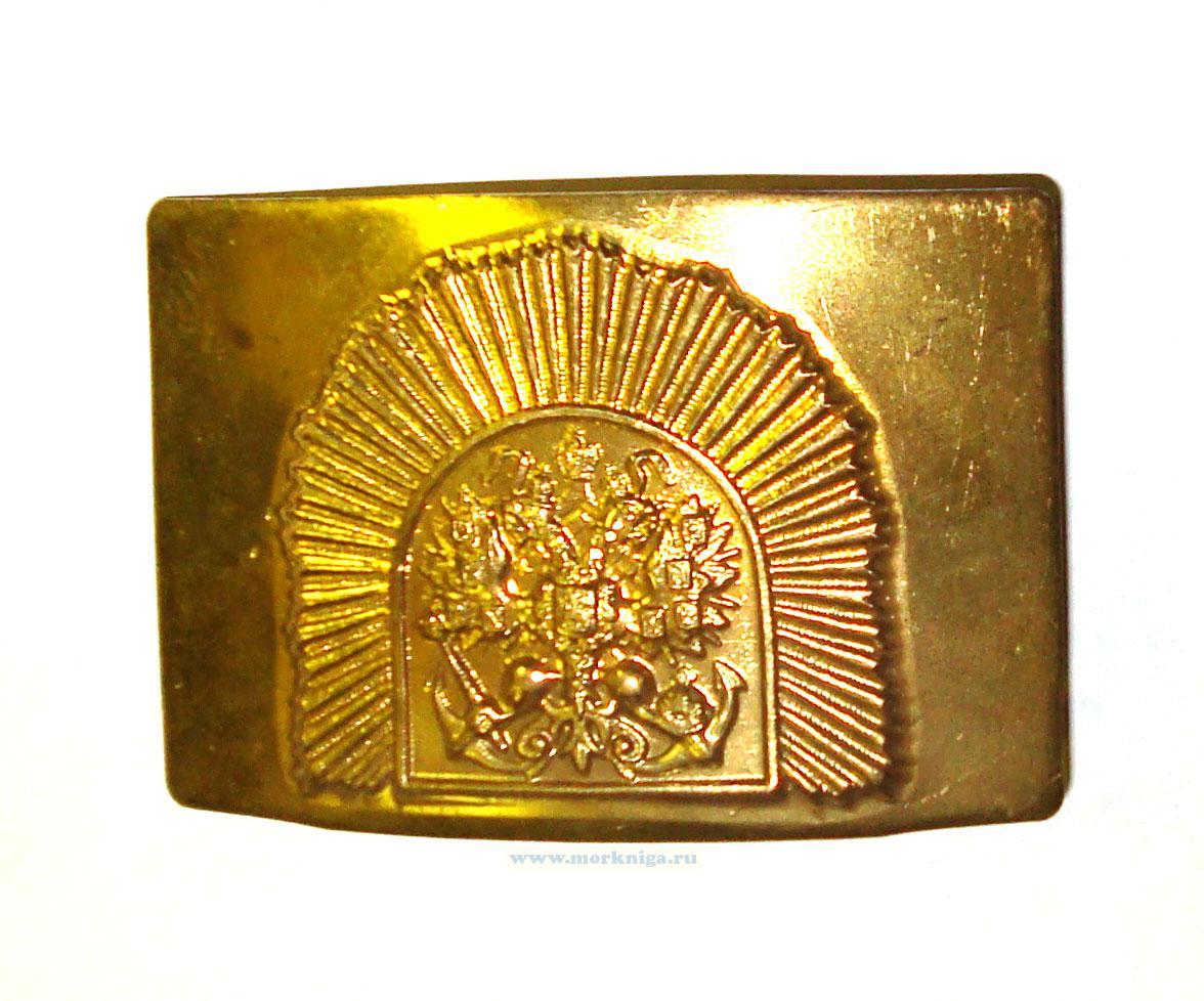 Пряжка для морских кадетских корпусов (якорь, орёл, лучи)