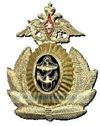Кокарда ВМФ, офицерская (маленький якорь, герб с опущенными крыльями)