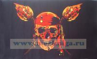 Флажок пиратский (с факелами) (14,5 х 25)