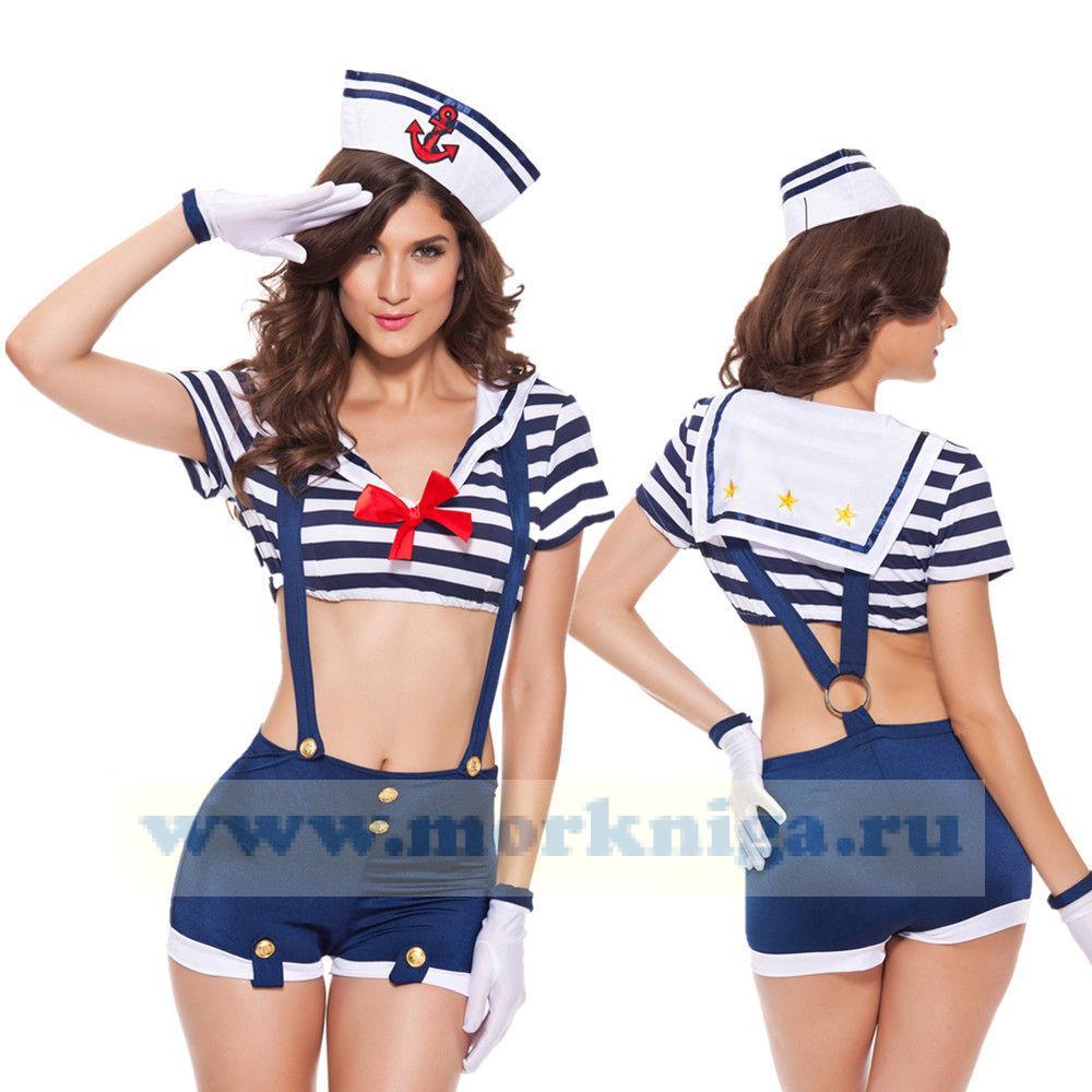 Стильный женский морской костюм