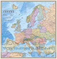 Зарубежная Европа. Политическая карта (капс. глянц.) 1:6 400 000, 78х70 с флагами