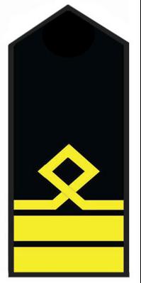 Погоны старшего лоцмана морского флота. 7 должностная категория