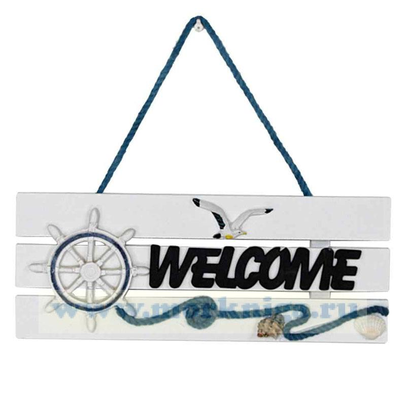 Табличка декоративная Welcome