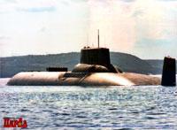Тяжелый ракетный атомный подводный крейсер стратегического назначения проекта 941. Постер
