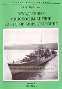 Эскадренные миноносцы Англии во Второй Мировой войне. Часть 1. (1925-1945 г.г.)