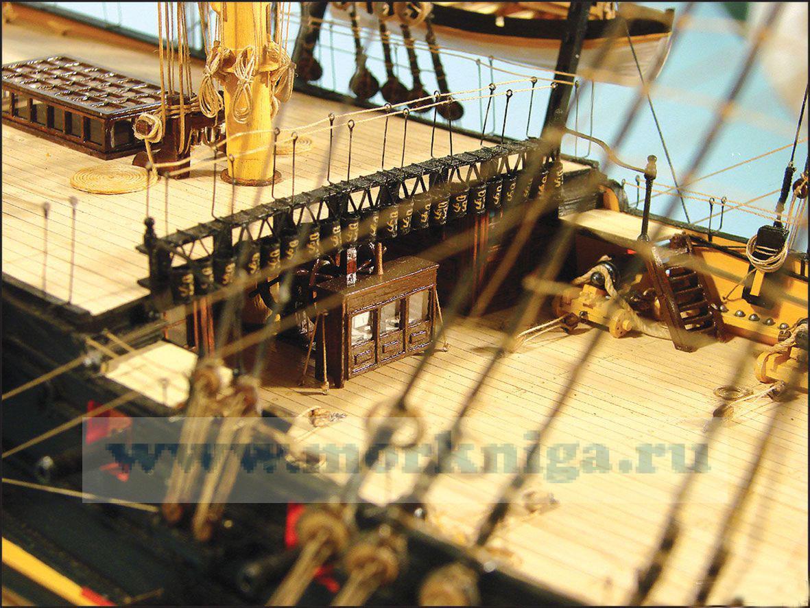 Модель-копия из бумаги корабля Victory. 1765 год. Флагманский корабль Адмирала Лорда Нельсона.