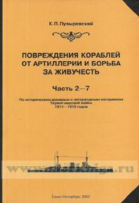 Повреждение кораблей от артиллерии и борьба за живучесть. Часть 2-7