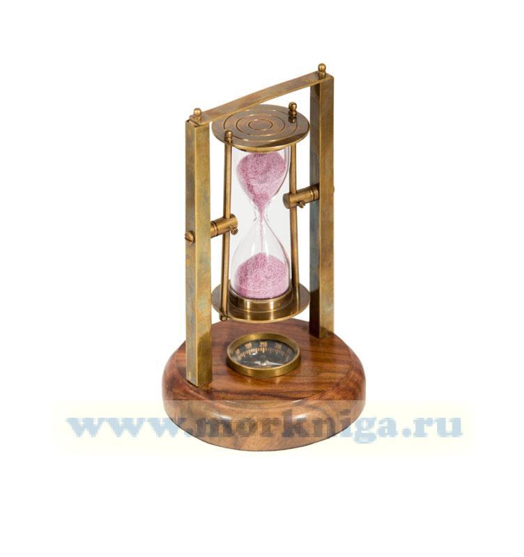 Настольные песочные часы с компасом