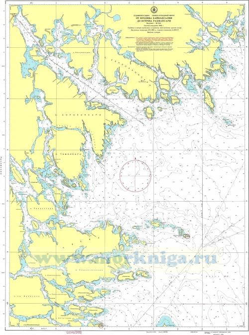 28075 От пролива Хайкансалми до острова Рахмансари (Масштаб 1:25 000)