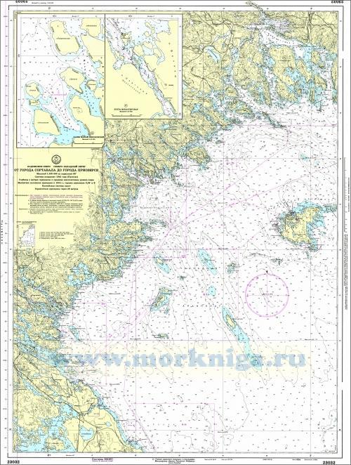 23032 От города Сортавала до города Приозерск (Масштаб 1:100 000)