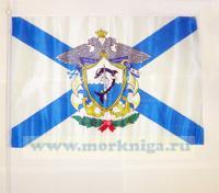 Флаг Андреевский с гербом Краснознаменного Черноморского флота (30х45см)