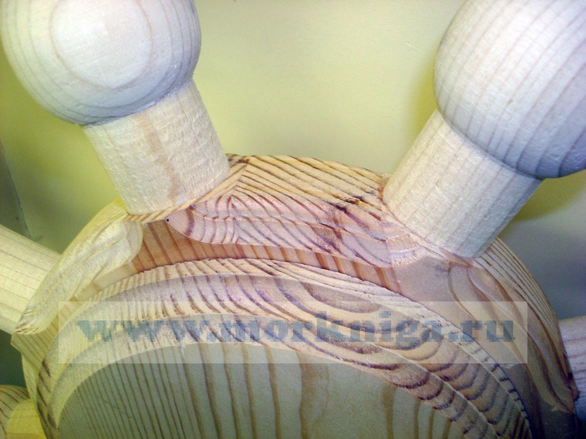 Штурвал без покрытия (диаметр 830 мм, толщина 100 мм, сосна)