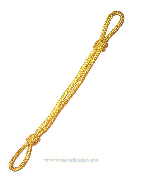 Шнур на фуражку желтый, шелковый
