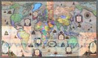 Карта мира. Политическая. Стиль ретро 1:25 000 000 (лам.)
