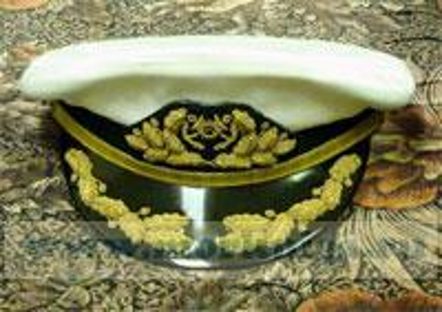Фуражка яхтенного капитана адмиральская белая