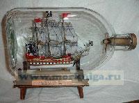 Корабль в бутылке. Пиратский корабль XVIII века