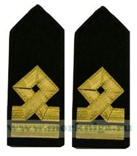 Погоны Третьего помощника капитана морского флота. 6 должностная категория