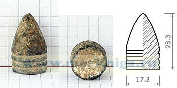 Пуля Тамизье к карабину Тувенена 1846 г. (Франция).