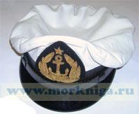 Капитанка кожаная (белая) с гербом СССР