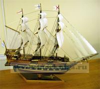 Модель российского фрегата XVII века