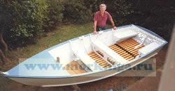Комплект чертежей и инструкций (на английском языке) для самостоятельной постройки моторной лодки
