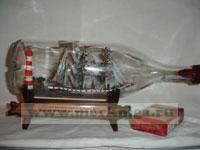 Корабль в бутылке. Русский военный корабль у маяка XIX в.