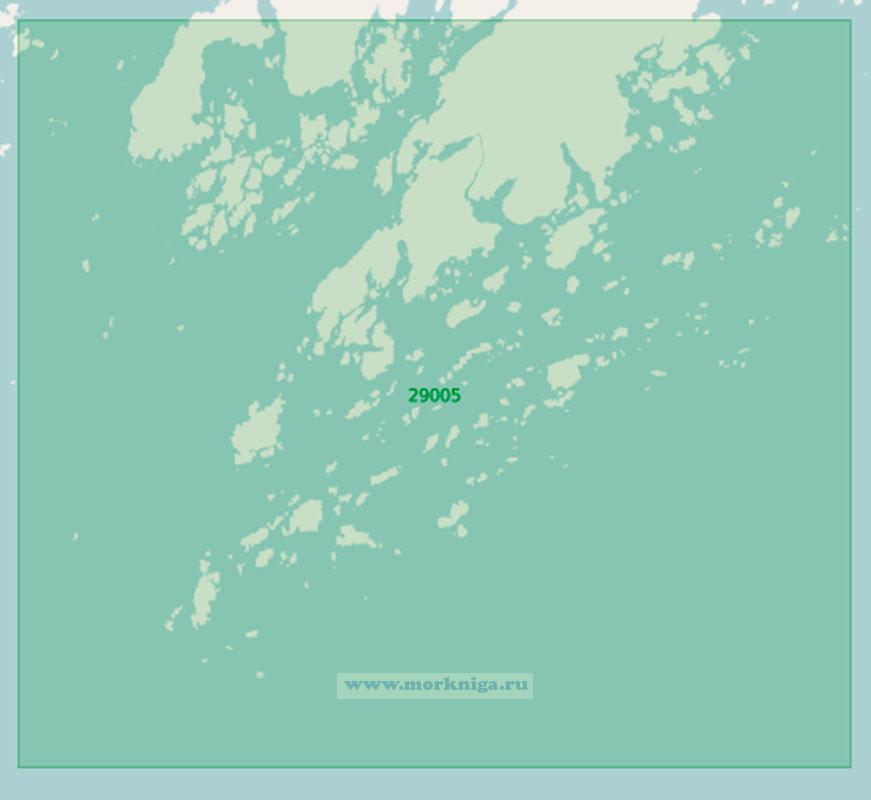 29005 Полуостров Порккаланниеми (Поркалаудд) с подходами (Маштаб 1:25 000)