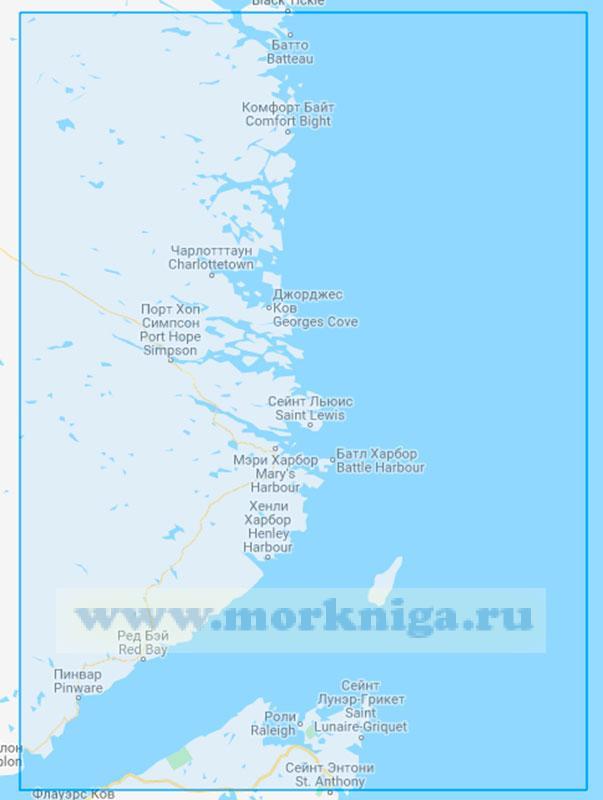 22686 От пролива Белл-Айл до острова Айленд-оф-Пондс (Маштаб 1:250000)