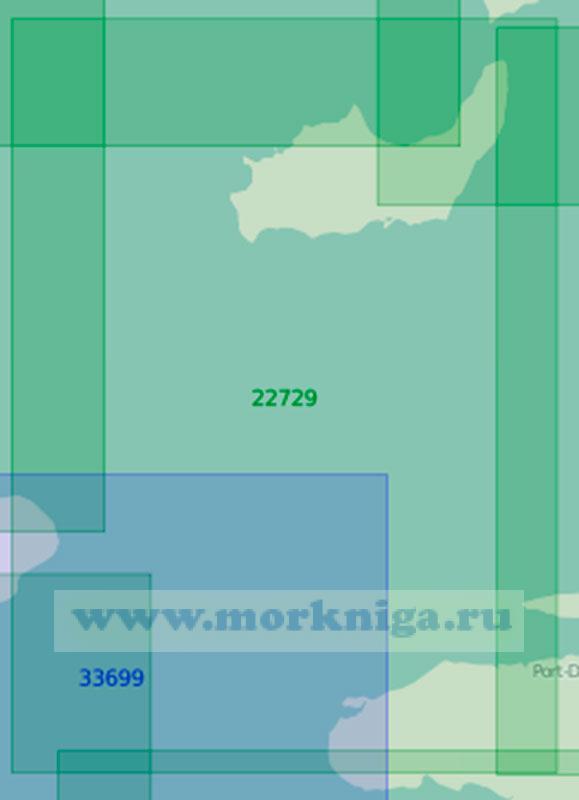 22729 От острова Куба до острова Гаити с островом Большой Инагуа (Маштаб 1:200 000)