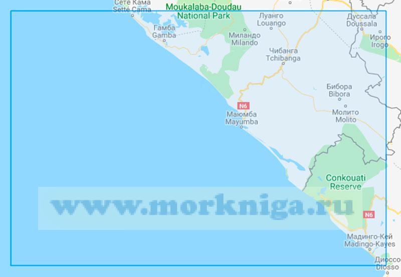 32510 От нефтяного терминала Гамба до мыса Читембо (Маштаб 1:350000)