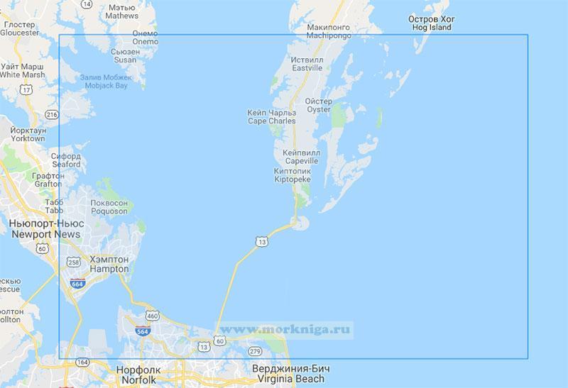 25732 Вход в Чесапикский залив (Маштаб 1:80000)