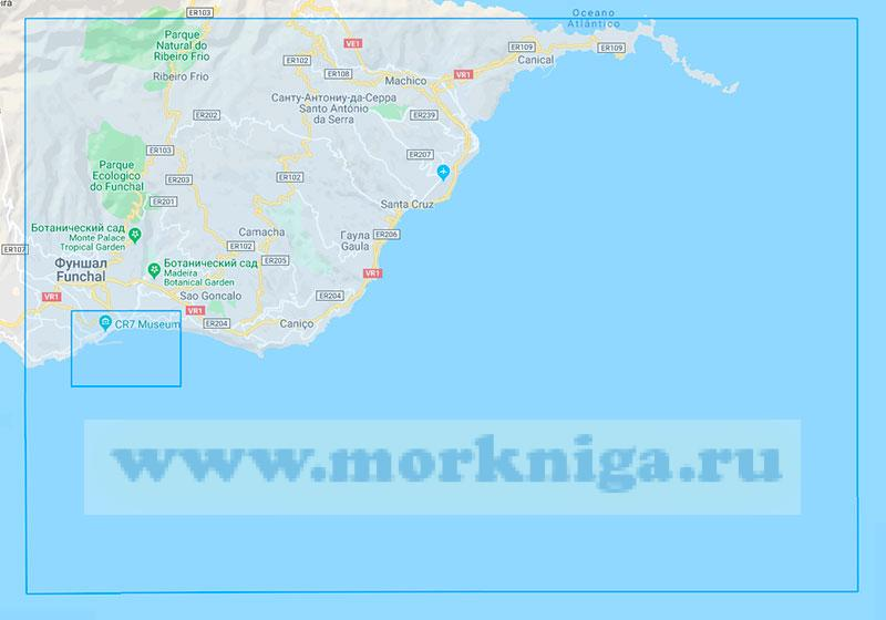 36428 Остров Мадейра. От острова Фора (Сан-Лоренсу) до порта Фуншал (Маштаб 1:30000)