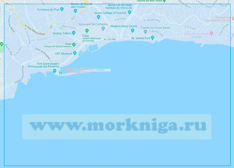 36428 А Остров Мадейра. От острова Фора (Сан-Лоренсу) до порта Фуншал (Маштаб 1:30000)