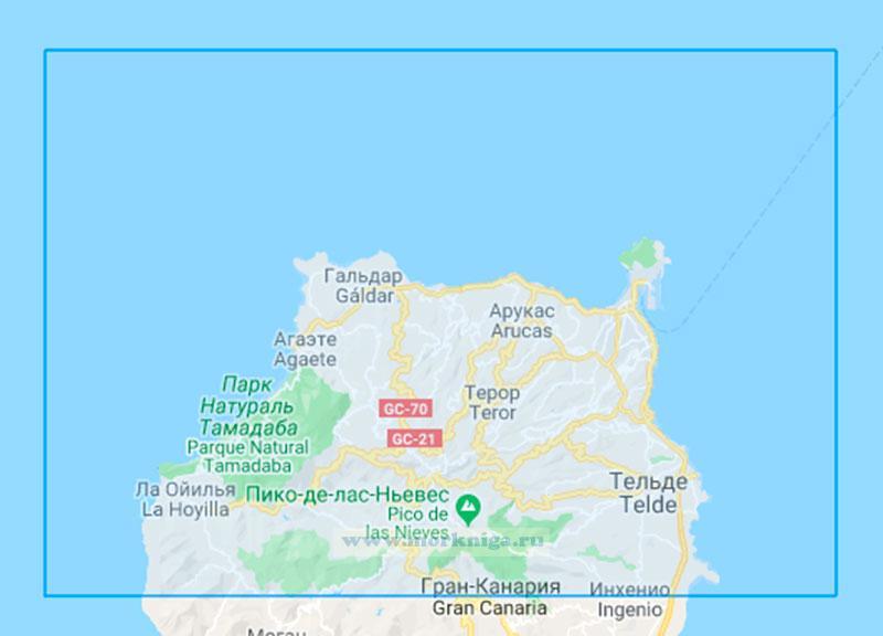 35454 Остров Гран-Канария. Северная часть( Маштаб 1:60000)