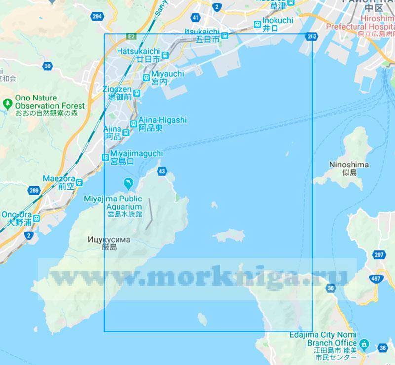 69378 Западная часть порта Хиросима (Маштаб 1:15000)