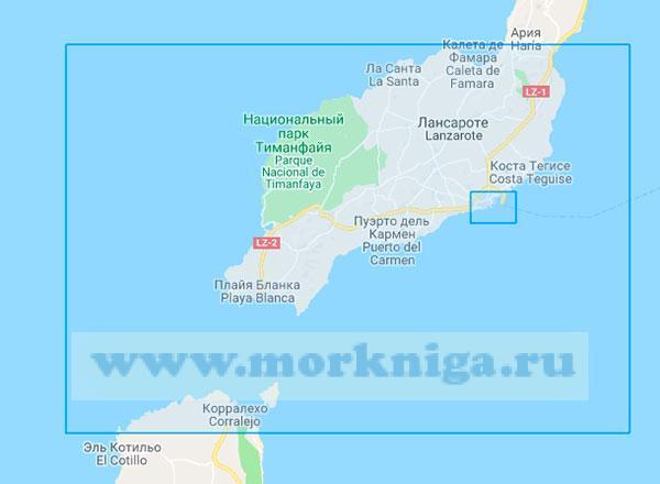35447 От порта Арресифе до пролива Ла-Бокайна (Маштаб 1:75000)
