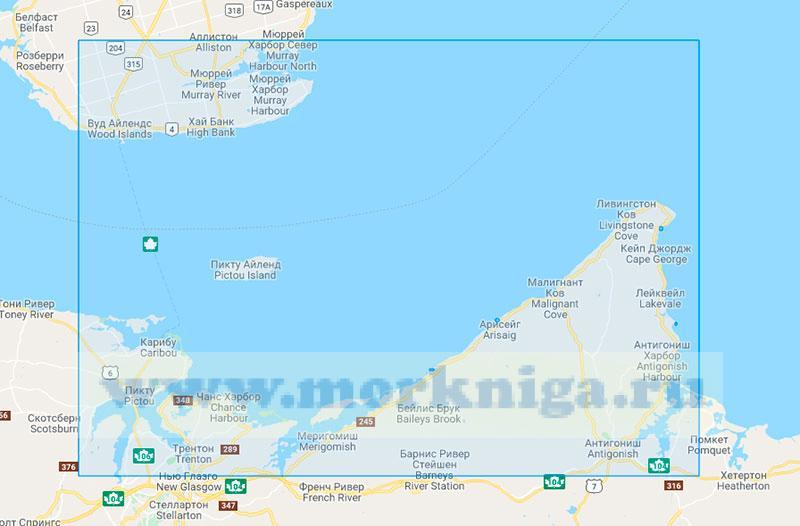 26622 Пролив Нортамберленд. От мыса Джордж до острова Пикту (Маштаб 1:75000)