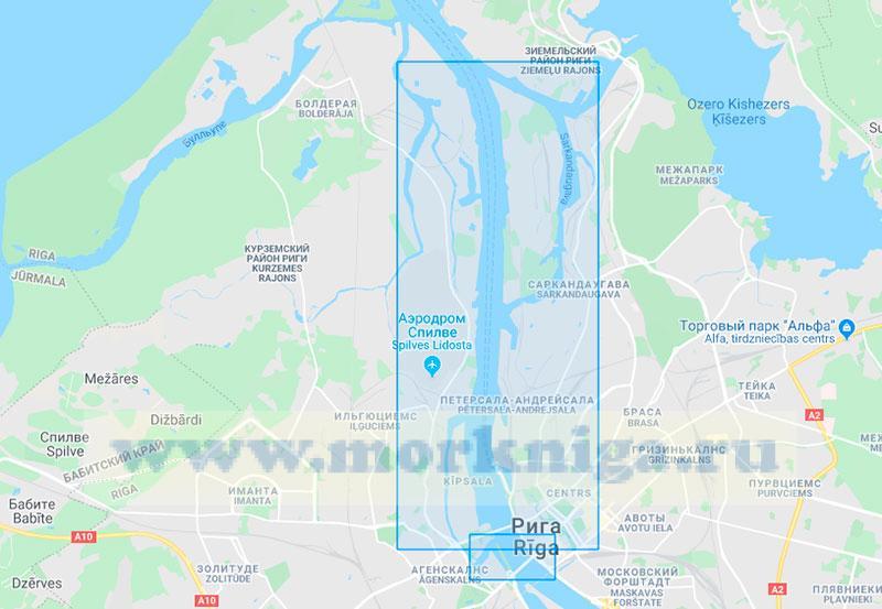 27077 Река Даугава. Южная часть порта Рига (Маштаб 1:10000)