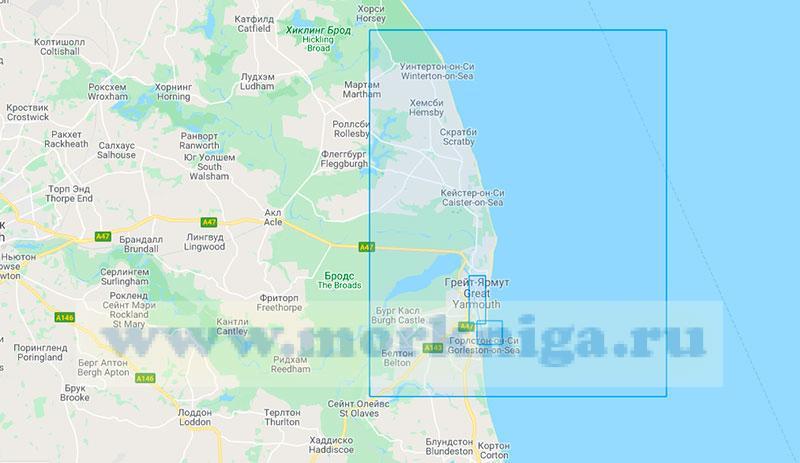 29259 Порт Грейт-Ярмут с подходами (Маштаб 1:25000)