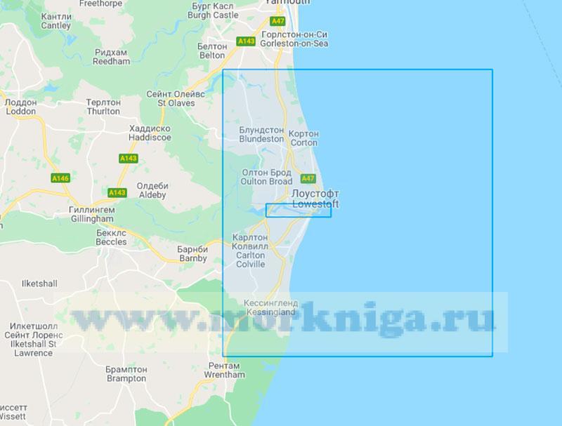 29260 Порт Лоустофт с подходами (Маштаб 1:25000)