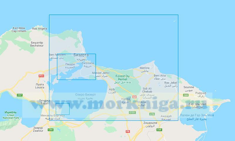36303 Порт Бизерта с подходами (Маштаб 1:50000)